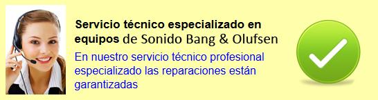 Servicio de Equipos Sonido Bang & Olufsen en Madrid