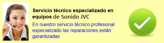 Reparación equipo sonido JVC Madrid